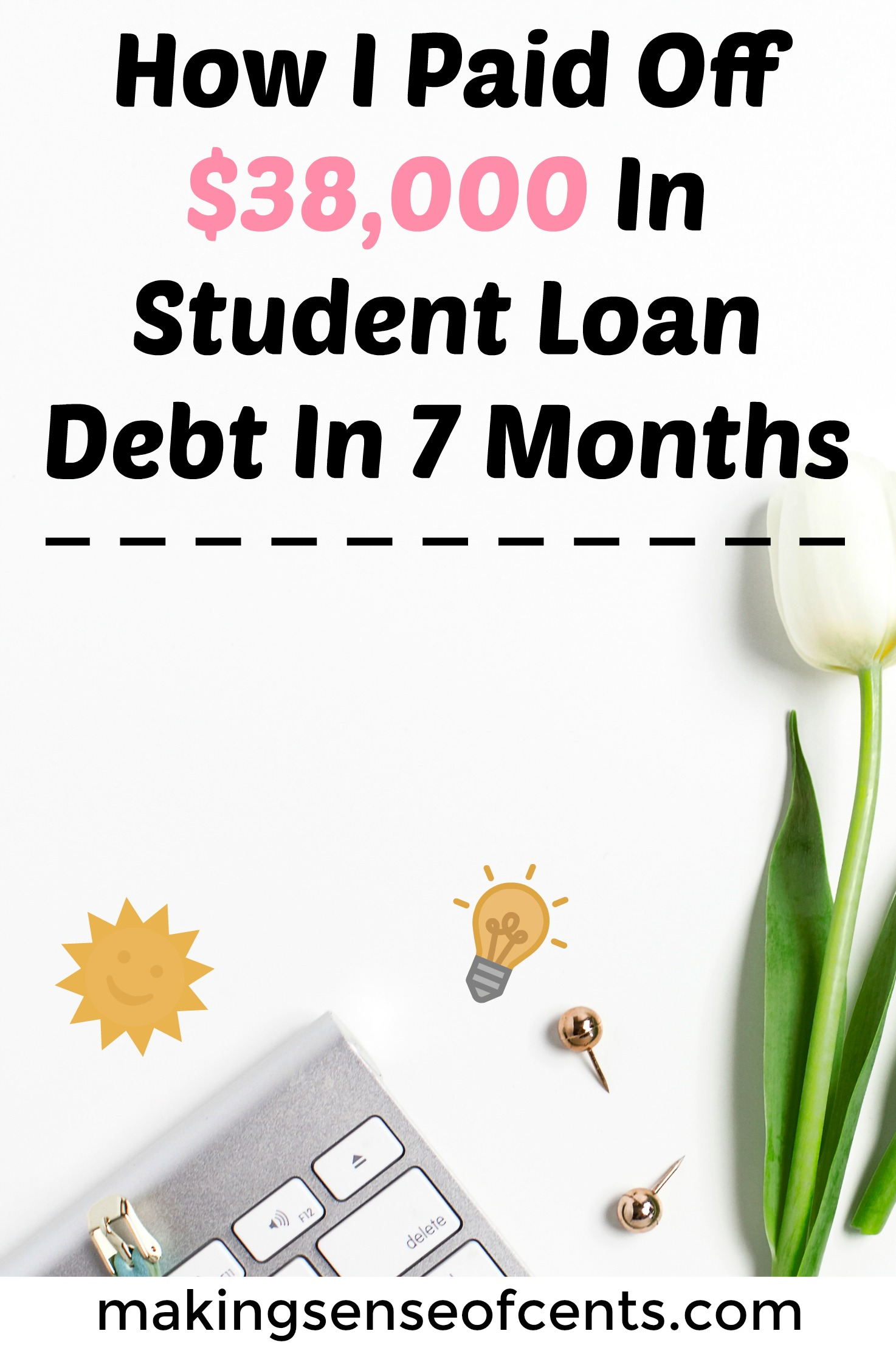 How I Paid Off $38,000 In Student Loan Debt In 7 Months